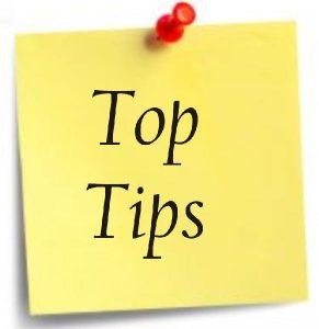 Top Tips postit note